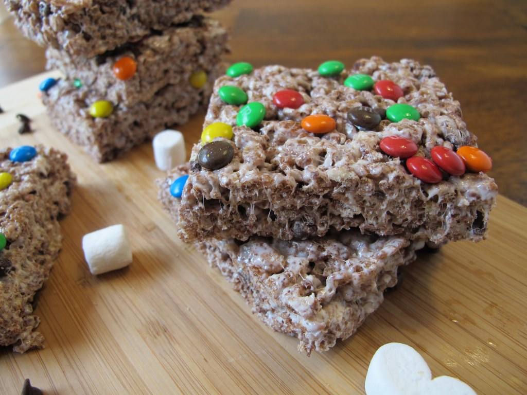 Triple Chocolate Rice Krispies Treats Tina S Chic Corner