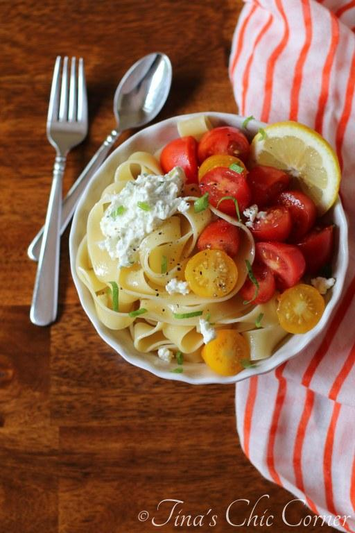 01Pappardelle With Tomatoes and Herbed Goat Cheese