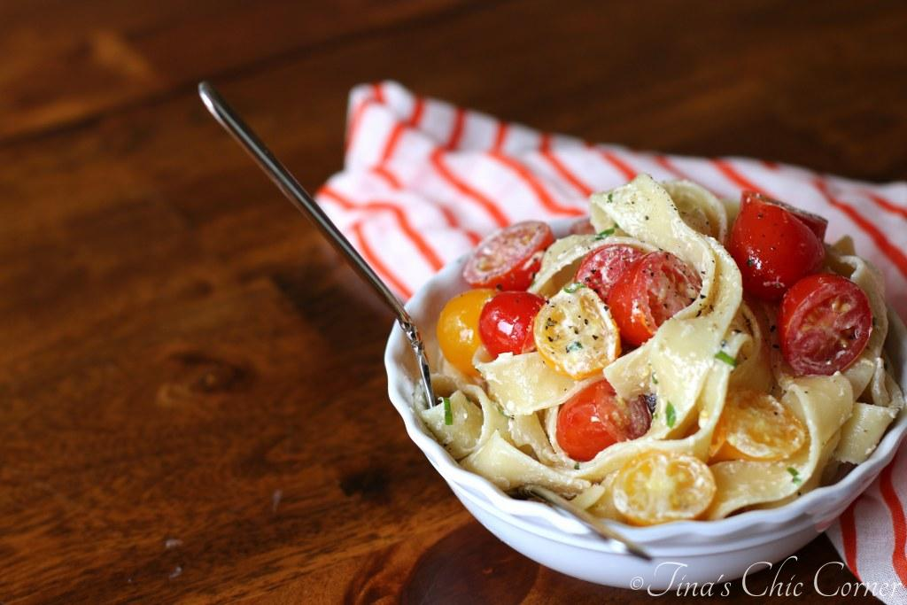09Pappardelle With Tomatoes and Herbed Goat Cheese